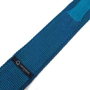 Teal Blue 2-tone Knitted Tie