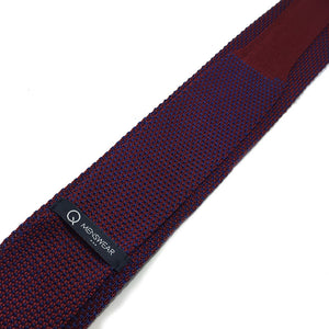 Maroon Blue 2-tone Knitted Tie