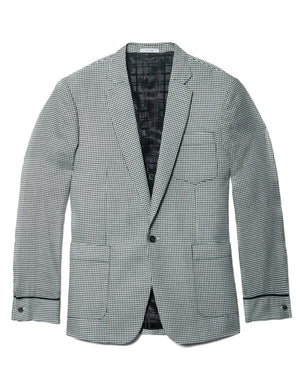 Black and White Houndstooth Jacket
