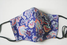 Load image into Gallery viewer, Liberty Blue Paisley Face Mask