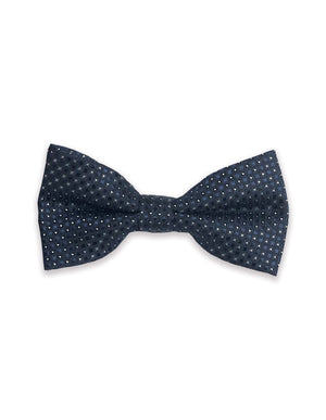Navy Diamonds Bow Tie