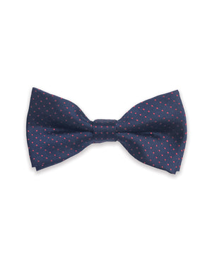 Navy with Red Dots Bow Tie