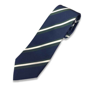 Navy Blue And Green Tie
