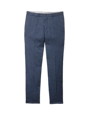 Navy Mini Window Pane Pants