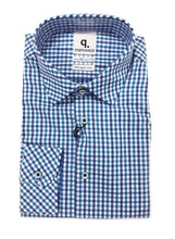 Load image into Gallery viewer, Blue Pepper Gingham Shirt