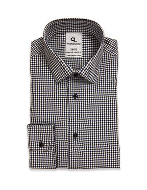 Long Sleeved Capri Houndstooth Shirt