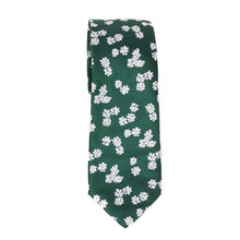 Load image into Gallery viewer, Green Floral Silk Tie