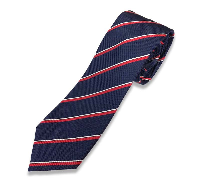 Blue And Red Stripe Silk Tie