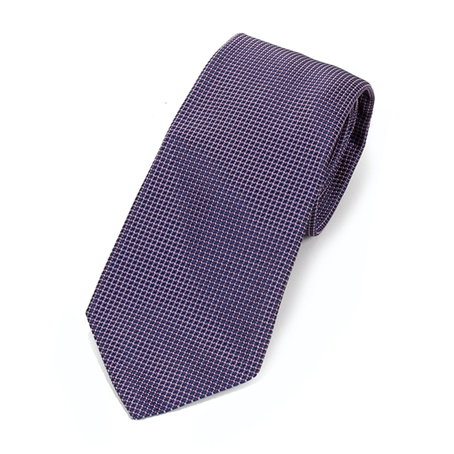 Purple and Pink Texture Silk Tie