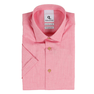 Short Sleeve Oxford Red Shirt