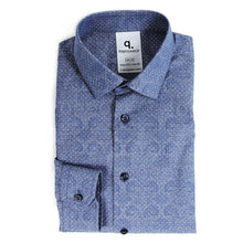 Load image into Gallery viewer, Long Sleeved Printed Blue Shirt
