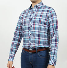Load image into Gallery viewer, Long Sleeves Alister Blue Plaid Shirt