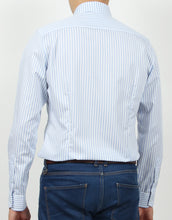 Load image into Gallery viewer, Long Sleeves Light Blue Stripes Shirt