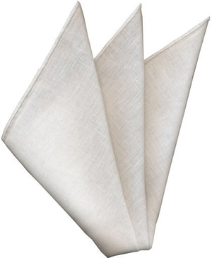 Linen White Pocket Square