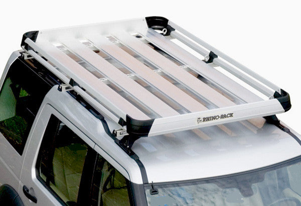 RHINO RACK LARGE ALLOY TRAY ROOF RACK SYSTEM - DISCOVERY 3 & 4