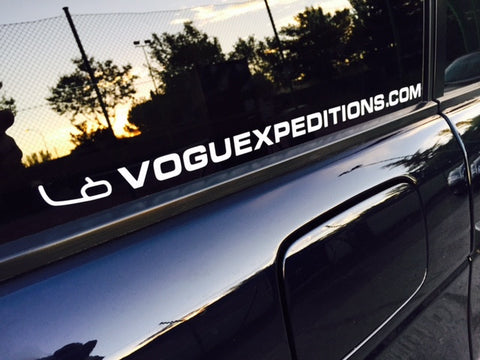 VOGUE EXPEDITIONS EXTERIOR STICKER