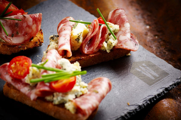 Cumberland Salami & Stilton Cheese Bruschetta