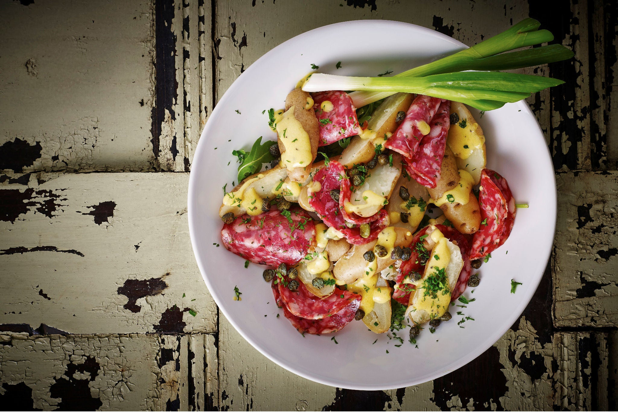Potato Salad with Cumberland Salami