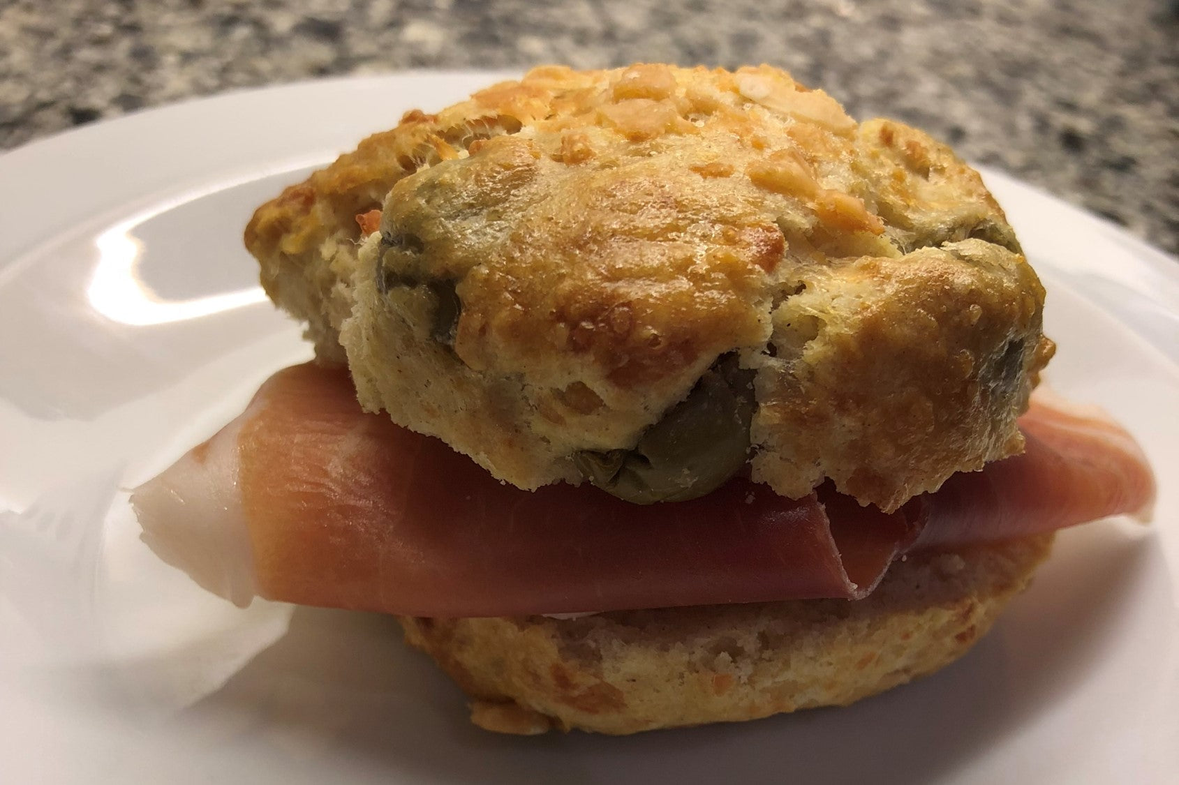 Olive & Parmesan Scone with Royale Ham