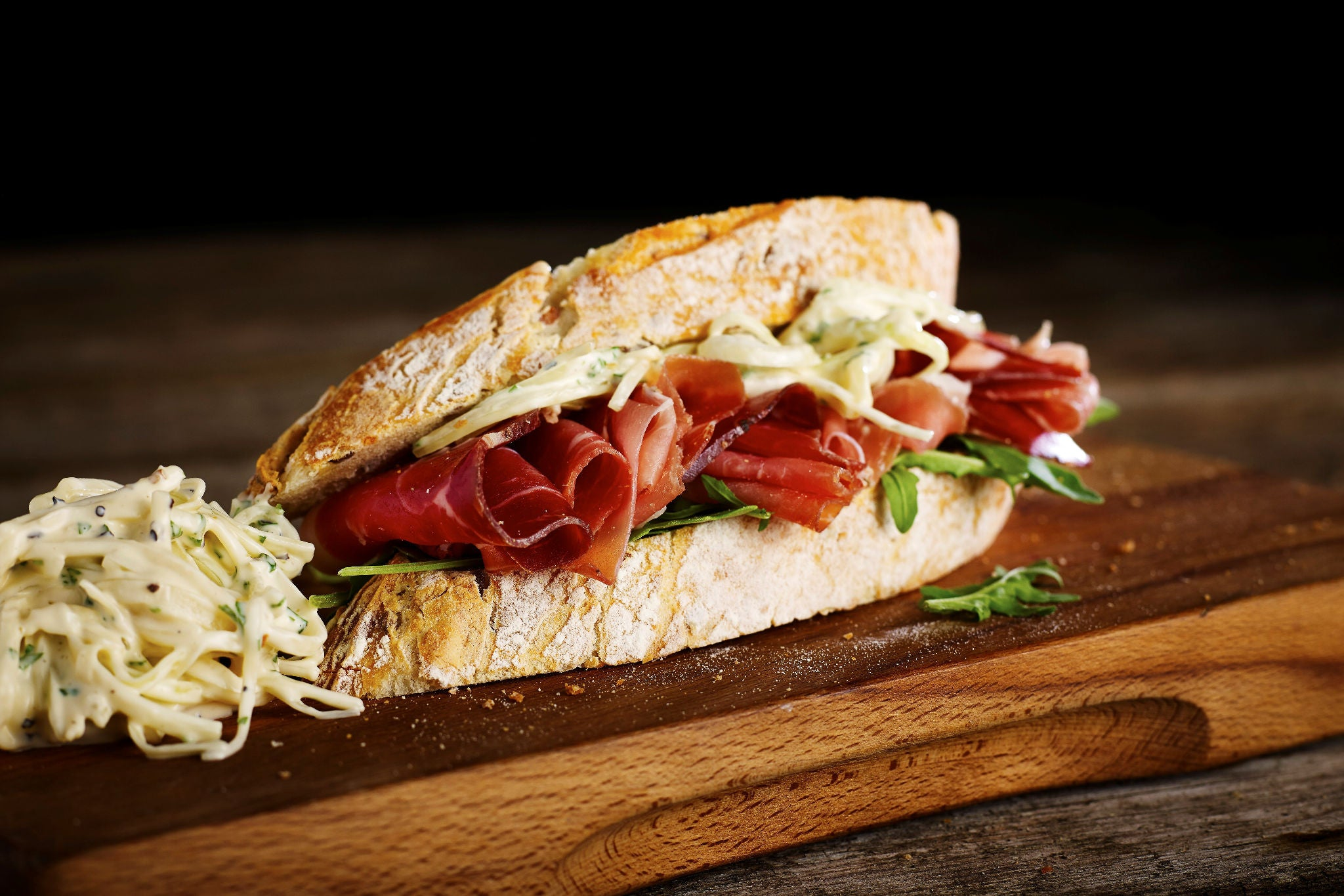 Royale Air-Dried Ham Sandwich with Celeriac Remoulade