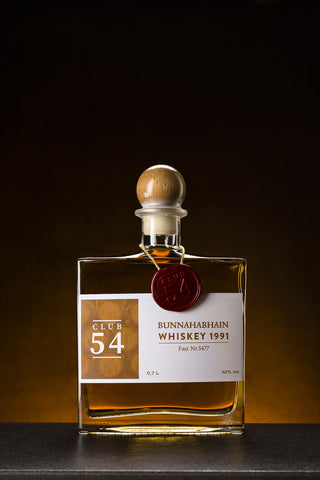 Club 54 Bunnahabhain Whiskey 1991 Fass-Nr. 5477 (0,7 l)