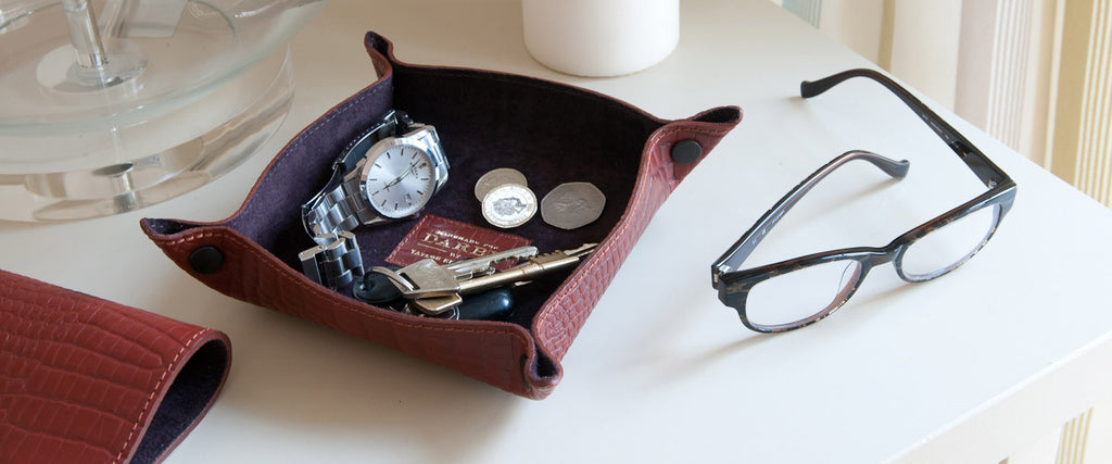 Leather Desk Tidy Trays