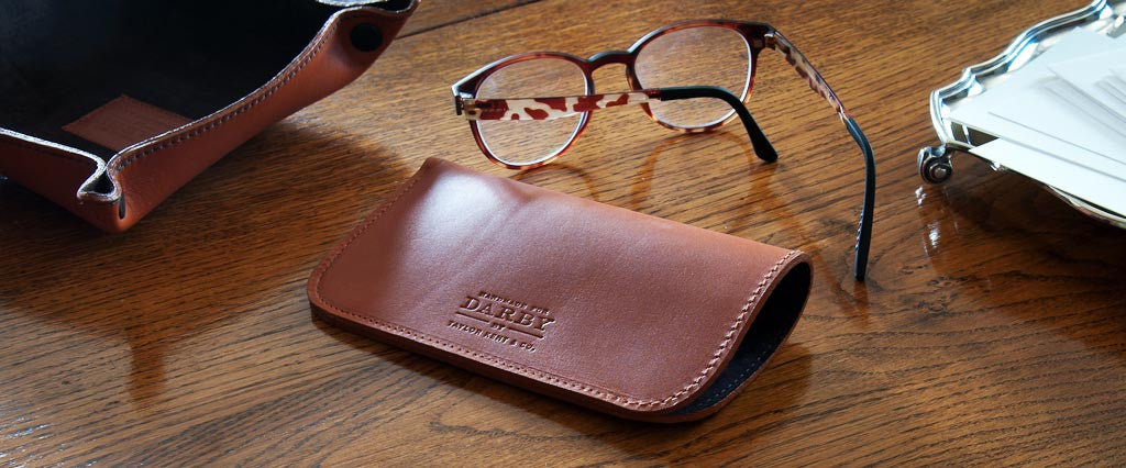 05de7a912421 Personalised Leather Glasses Case UK - DarbyMade
