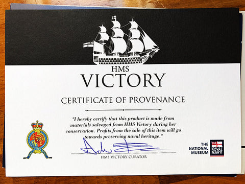 Bespoke-Item-HMS-Victory-Fountain-Pen-Certificate-of-Provenance-Darby-Made