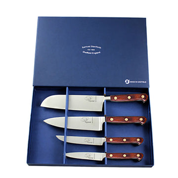 4 Piece Rosewood Kitchen Knife Set