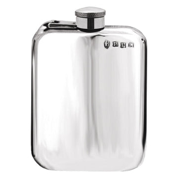 6oz Classic Rounded Corner Pewter Hip Flask