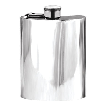 6oz Classic Squared Corner Pewter Hip Flask