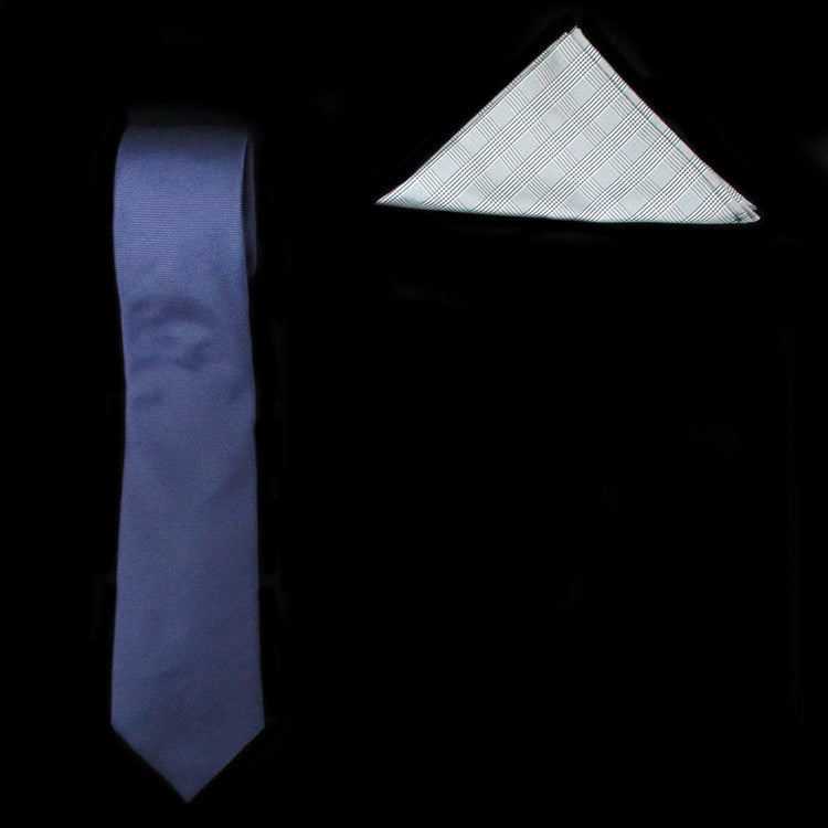Classic Silk Tie and Prince of Wales Pocket Square Gift Set