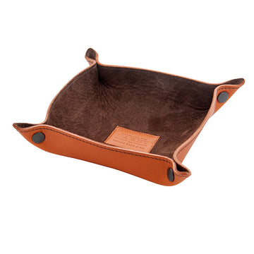 Tan Leather Tidy Tray