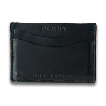 Black Leather Leaf Wallet