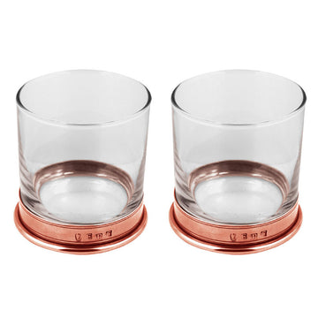 Double Rose Pewter Whiskey Glass Gift Set