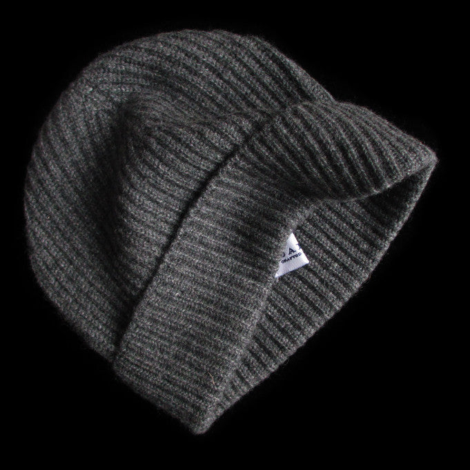 387edd62932 New Lanark Grey Cashmere Mens Beanie Hat