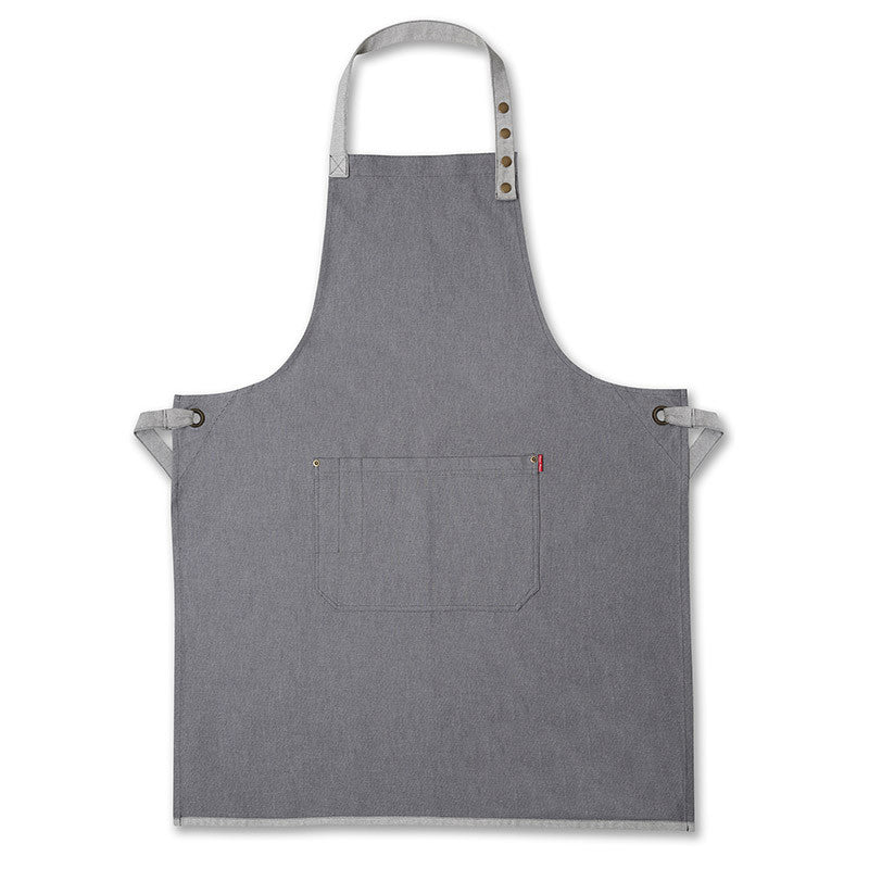 Grey Denim Mens Apron
