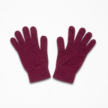 Hawick Burgundy Cashmere Mens Gloves