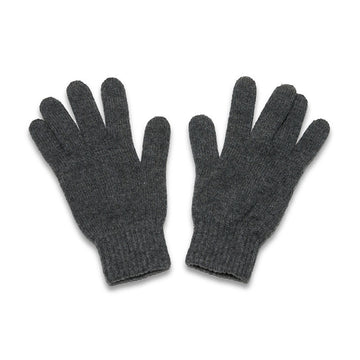 Hawick Grey Cashmere Mens Gloves