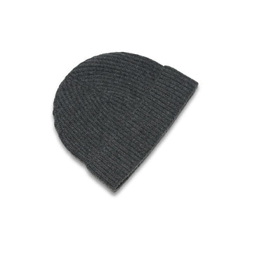 New Lanark Grey Cashmere Mens Beanie Hat