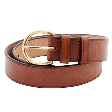 Oak Bark Leather Bespoke Belt With D-Ring Buckle