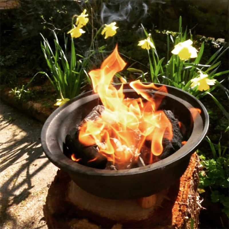 Cast Iron Garden Burner With Grill