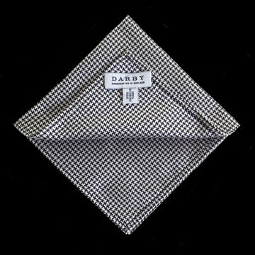 Oxford Houndstooth Silk Pocket Square
