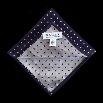 Oxford Spot Silk Pocket Square