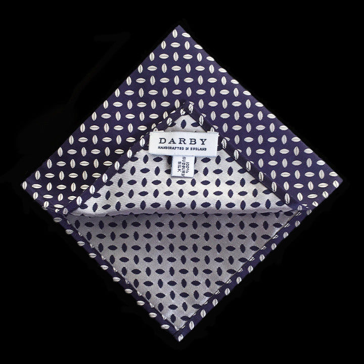 Oxford Coffee Silk Pocket Square