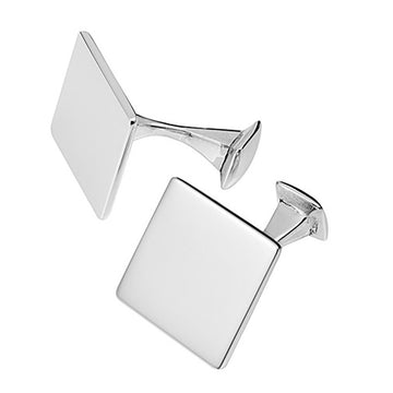 Solid Square Sterling Silver Cufflinks
