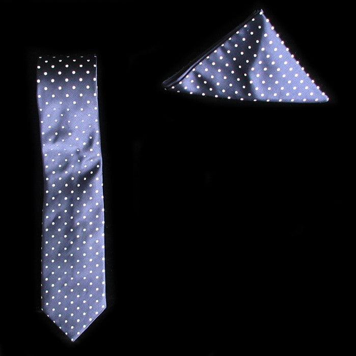 Spots Silk Tie and Pocket Square Gift Set