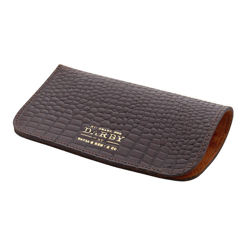 Chocolate Brown Leather Glasses Case