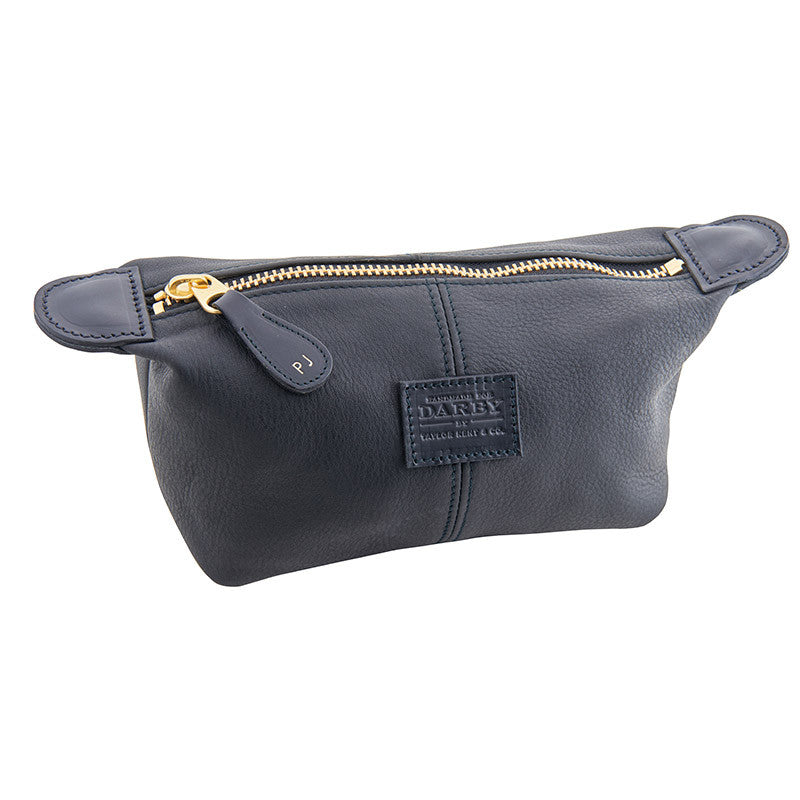 BOC Black Leather Wash Bag