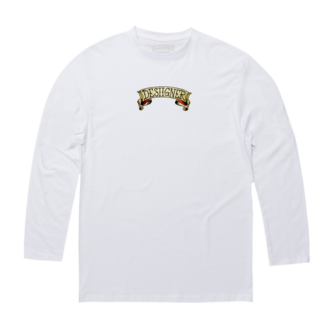 Desiigner Heart White Long-Sleeve
